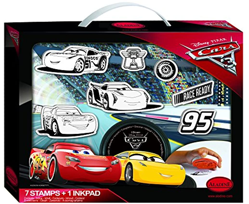 Aladine 61104?My Cars 3?Stamp Suitcase