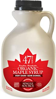 47 North Canadian Organic Maple Syrup, Single Source, Grade A, Very Dark Strong, 500ml