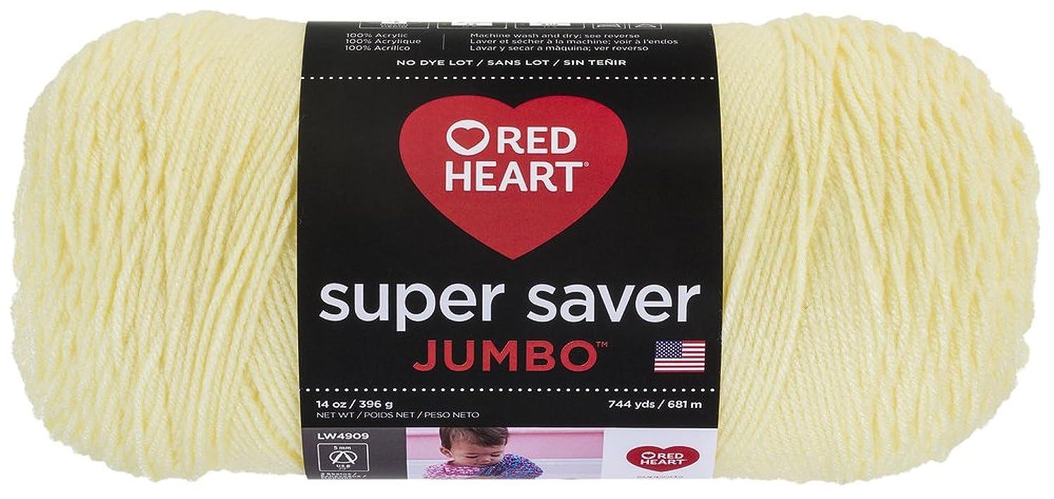 Red Heart Super Saver Jumbo Yarn, Pale Yellow