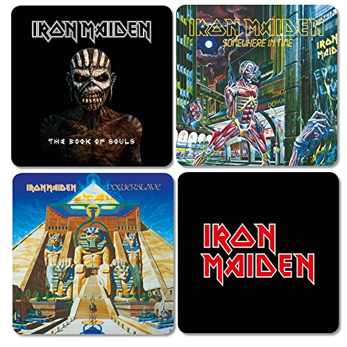 Iron Maiden Lot de 4 sous-verres Coaster Album Cover Mix 2