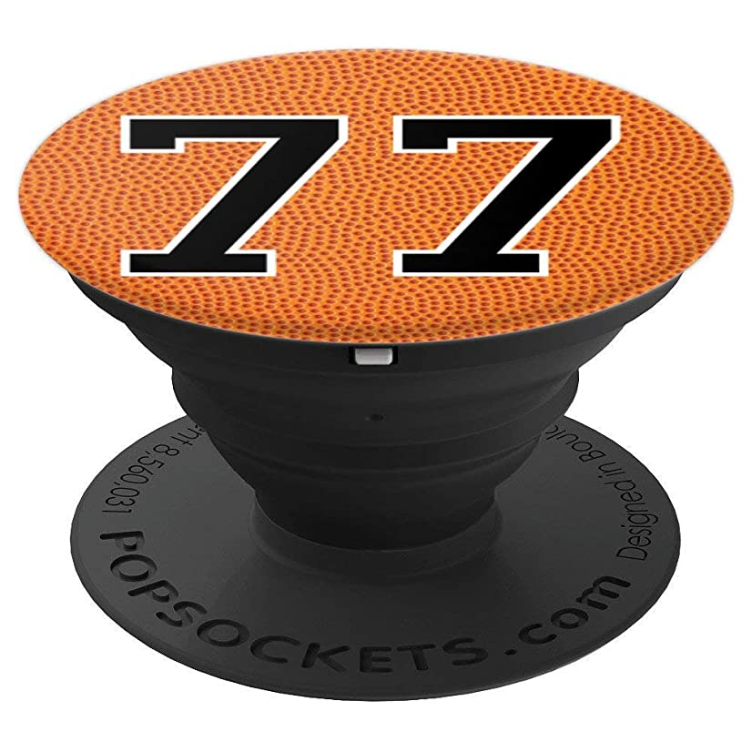 Basketball Number 77 Jersey Uniform Gift For Men Women - PopSockets Grip and Stand for Phones and Tablets
