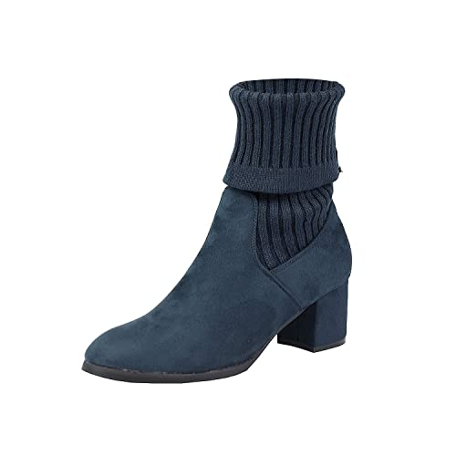 DREAM PAIRS Womens Chunky Heel Ankle Booties