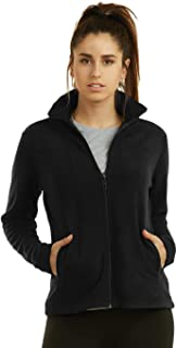 Sofra Women's Polar Fleece Full Zip Up Winter Jacket