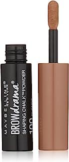 Maybelline New York Brow Drama Shaping Chalk Powder, Blonde, 0.035 fl. oz.