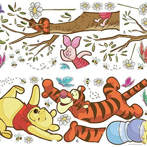 RoomMates RM - Disney Winnie Puuh schnapp den Honig Wandtattoo, PVC, bunt, 48 x 13 x 2.5 cm