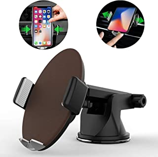 HEGUANGWEI HMT4 Desktop Suction Cup Base Smart Automatic Clamp Phone Holder Stand, for Phone and Other 4-6 inches Smartphones(Black) Car Accessories (Color : Brown)