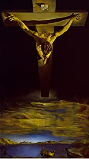 Quality Prints - Laminated 20x35 Vibrant Durable Photo Poster - Salvador Dali - in Christ of St. John of The Cross 1951