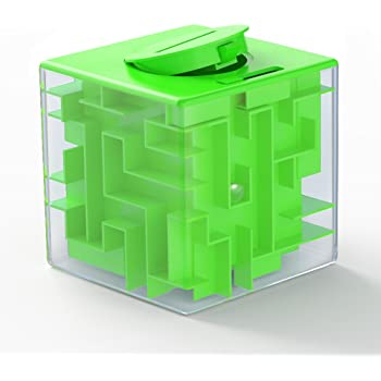 ThinkMax Money Maze Puzzle Box for Kids and Adults - Unique Way to Give Gifts for People You Love - Fun and Inexpensive Game Challenge for Children Birthday Christmas Gag Gifts (Green)