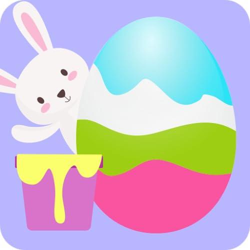 Pinta y decora huevos de pascua 3D. Diseñado para niños y niñas.