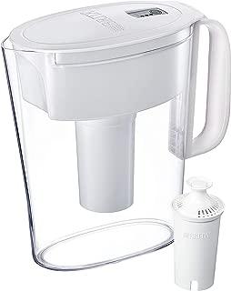 Brita Metro Pitcher with 1 Filter, BPA Free, 5 Cup, White