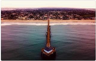 Tree26 Indoor Floor Rug/Mat (23.6 x 15.7 Inch) - Imperial Beach California Sea Ocean Pacific Pier