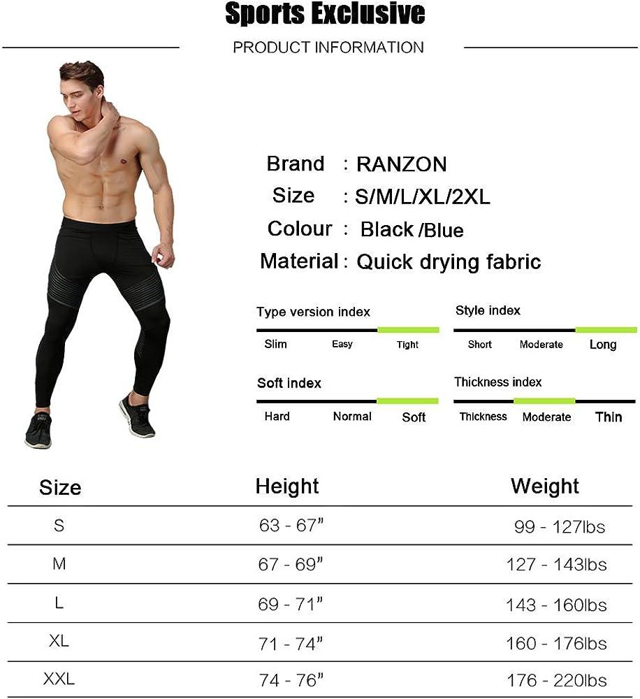 HOTIAN Bodybuilding Compression Pants Running Workout Skin Tights Leggings for Men