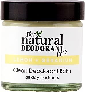 Clean Deodorant Balm Lemon + Geranium by The Natural Deodorant Co 55ml