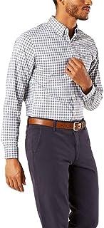 Dockers Camisa tejida de manga larga para hombre