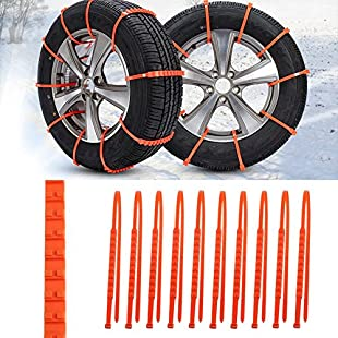 20 Pcs Double Tooth Car Truck Snow Anti-skid Wheel Tire Snow Chains Universal Fit Tyre Width 175 - 295
