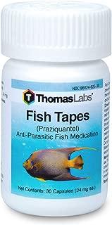 Thomas Labs Fish Tapes - Anti-Parasitic Fish Medication - Praziquantel for Fish - For Tapeworms & Flukes - (34 mg, 30 Capsules)