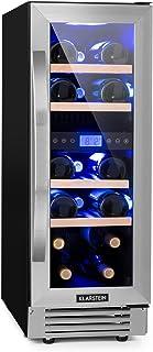Klarstein Vinovilla Duo17 - Nevera para vinos, Nevera de bebidas, Volumen de 53 litros, 4 estantes de madera, Panel táctil...