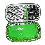 cypressen Insulin Kühltasche Diabetiker Tasche Für Medikamente Thermotasche Aus Polyester Und Alufolien, Tragbarer Isolierte Medizinischer Kühler Insulin-Kühltasche