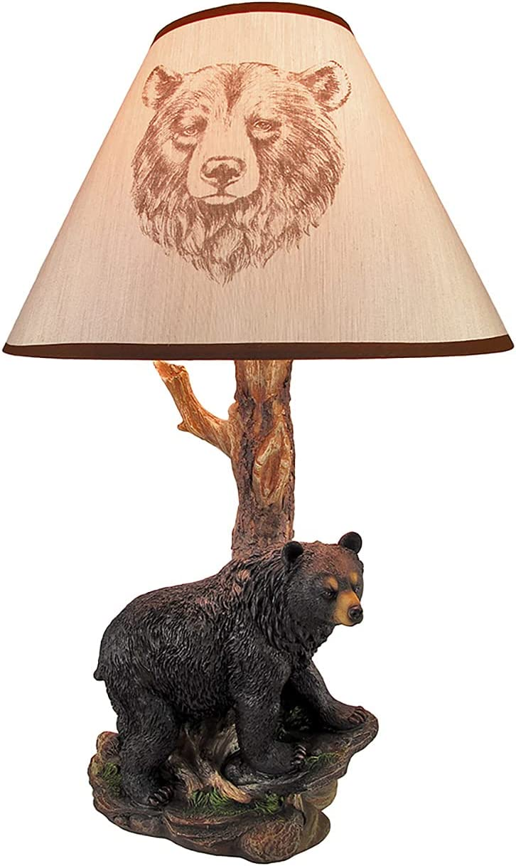 Black Bear and Tree 2021 Table New products, world's highest quality popular! with In. 20 Lamp Shade