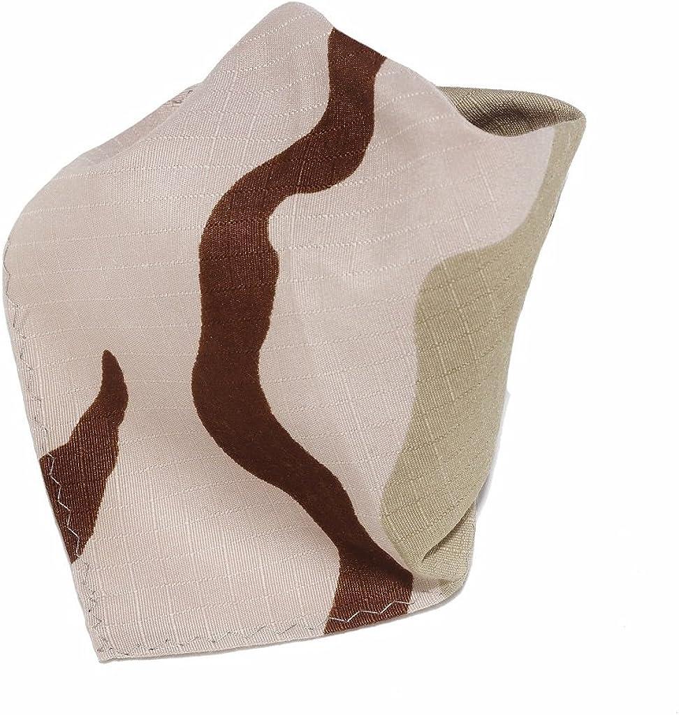 Camouflage Pattern Army Beige Hankerchief Pocket Square Hanky Mens Handkerchiefs