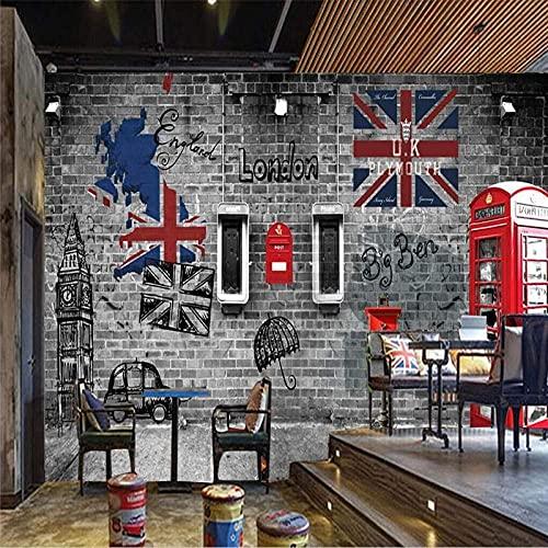 FTFTO Equipo para el hogar, quiosco móvil de Londres, Papel Tapiz 3D, Retro, cafetería, Restaurante, Arte de Pared, póster, Mural Decorativo