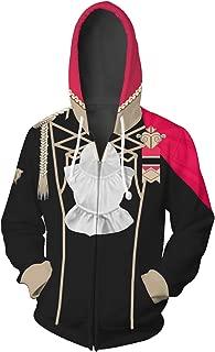 Fire Emblem Three Houses Cosplay Hoodie Zip Up Jacket Hooded Sweatshirt Anime Hoodies Halloween Costume Adult