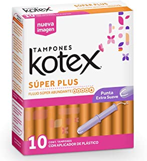 Kotex Super Plus - Tampones 1 caja de 10 tampones