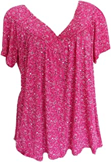 comprar comparacion Luckycat Mujeres Manga Corta T Shirt O Cuello Impresos Floja Camisetas Tops Tallas Grandes Plus Size