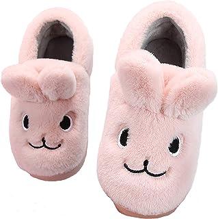 Lvptsh Chausson Enfant Fille Garçon Pantoufle Bébé Hiver Chaussures de Maison Antidérapants Chaudes en Peluche