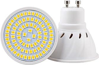 GU10 LED Bulb Lamp 8W Warm White 2700K Super Bright Spotlight Bulbs 80Leds 800Lm 60W Halogen Bulbs Equivalent No Dimmable,...