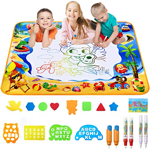 Toyard Doodle Mat Large Aqua Magic Water Drawing Mat Toy Gifts for Boys Girls Kids Painting Writing Pad Educational Learning Toys for Toddler