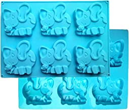 FantasyDay 2 Pack Elephant Silicone Cupcake Mold Candy Mold for Your Holiday Cake, Soap, Ice Cube, Gummy, Cookie, Biscuit and More #2