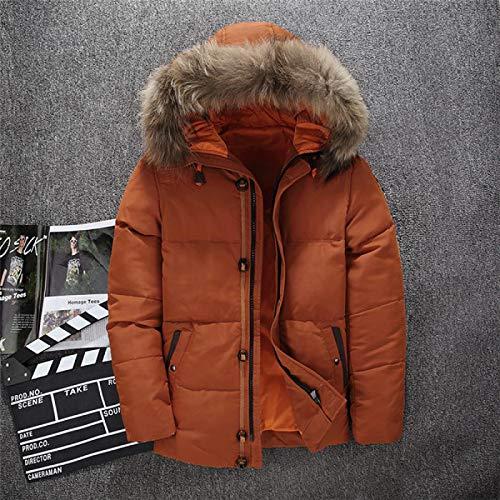 Top Design Uomo Piumini Invernali Piumino Bianco Piumino D'Anatra per Uomo Giacche con Cappuccio di Marca da Uomo Casual XXXL Arancione Spedizione Gratuita