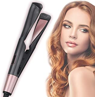 Professional Hair Straightener 2 in 1 Curling Iron Tourmaline Ceramic Twisted Flat Iron Fast Heating-up Adjustable Temp with LCD Digital Display&Auto Shut-off Hair Styling Tools for All Types (AU Plug)