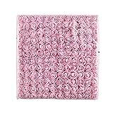 AZXU - Mini rose artificiali in schiuma, multicolore, piccole rose finte per matrimoni, scrapbooking, decorazioni, 144 pezzi, da 2 cm rosa chiaro