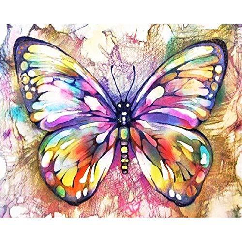 OKOUNOKO Puzzle 500 Piezas Adultos, Mariposa Colorida, Personalizado De Madera Montaje Rompecabezas Divertido, 52X38Cm