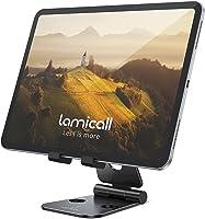 Verstelbare tabletstandaard - Lamicall opvouwbare tablethouder, Universeel draagbaar bureauhouder Dock Compatibel met...