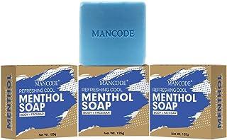 Mancode Refreshing Cool Menthol Soap - 125gram Each | Refreshing | Nerve Cells - Sense Cold | Natural Essentials Oil - 10...