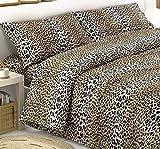 SpazioTessile Sacco Parure o Completo Copripiumino o Copritrapunta 100% Cotone Maculato Leopardo at (Sacco e Federa Matrimoniale)