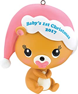 Carlton Heirloom Ornament 2017 Baby's First Christmas - Girls - #CXOR009M