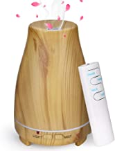 GeeRic Aroma Diffuser 200 ml luchtbevochtiger ultrasone vernevelaar, luchtbevochtiger aromatherapie oliën geurlamp met 7 k...