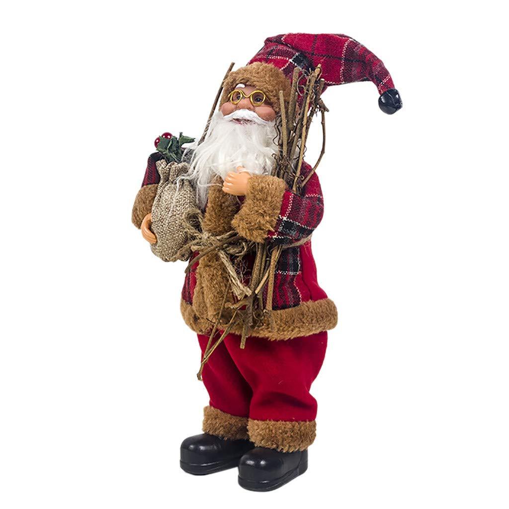 FiedFikt Muñeca de Papá Noel Decorativa de Navidad para niños ...