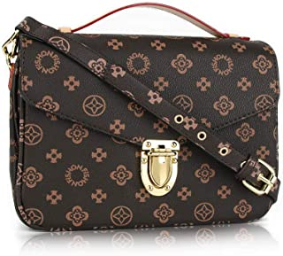 Gerosse Women Shoulder Purse Retro Leather Crossbody Bag Waterproof Shoulder Handbags for Women
