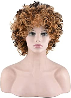 Nishore Curly Hair Wig Styling Short High-Temperature Fibre Afro-Hair
