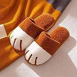 pantuflas para limpieza easy feet,Zapatillas de algodón para mujer, otoño e invierno, hogar, pata de gato, dibujos animados, linda pareja, cálidas zapatillas de felpa para interiores, hombre-color ca