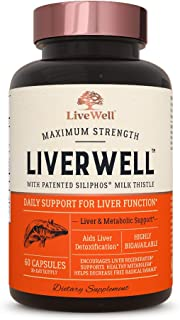 Sponsored Ad - LiverWell Liver Cleanse & Detox, Regeneration, Metabolic Support - Highly Biovailable Patented Milk Thistle...