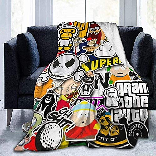 Not applicable Lustiges Cartoon-Anime-Filmspiel Supermans Throw Blankets Mikrofaser-Tagesdecken Fleece-Decken Throw Ultra Soft Coral Bedcover für Schlafzimmer Wohnzimmer Sofa Couch