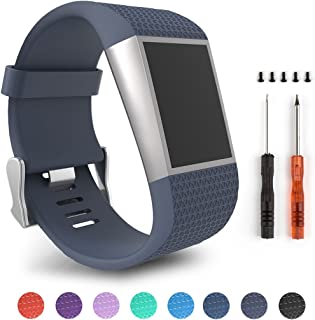 Topopo for Fitbit Surge, Replacement Strap Bands for Fitbit Surge Watch Fitness Tracker (Style 3-S Size)
