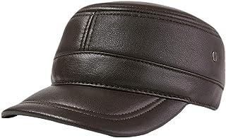 Zipok Baseball Cap hat Mens Winter Warm New Sheep Leather Newsboy Beret Belt caps Hats