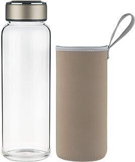SHBRIFA Borosilicate Glass Water Bottle 32oz, BPA Free Glass Drinking Bottle with Neoprene Sleeve and Leak-Proof Stainless...